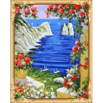 seascape diy Öl malen nach zahlen Hobby malset für erwachsene gx7314