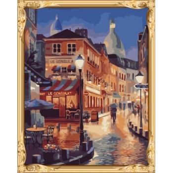 Yiwu großhandel malen nach zahlen landschaft für wand-dekor gx7299