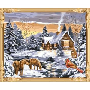 Gx7417 malen nach zahlen heißen foto Schneelandschaft leinwand Ölgemälde für wand-kunst