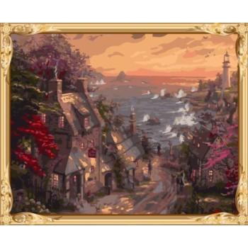 gx7334 kunst lieferanten Landschaft diy Öl malen nach zahlen für wohnkultur