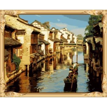 Gx7421 malen nach zahlen-sets chinese Ölmalerei für wand kunst
