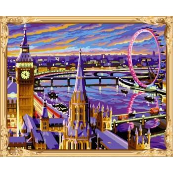 gx7435 abstrakte London Landschaft diy Öl malen nach zahlen