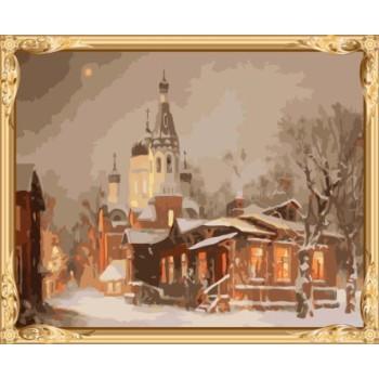 gx7356 yiwu großhandel schnee ciy Landschaft diy malen nach zahlen auf leinwand