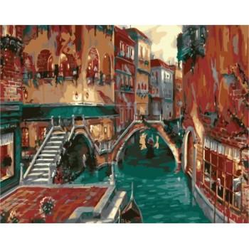 Stadtlandschaft holzrahmen leinwand malen nach zahlen für Wohnzimmer dekor gx7229