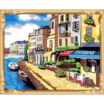 wand kunst Stadtlandschaft paintworks malen nach zahlen für erwachsene gx7552