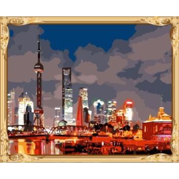 Landschaft shanghai diy malen nach zahlen chinesische malerei für schlafzimmer dekor gx7475