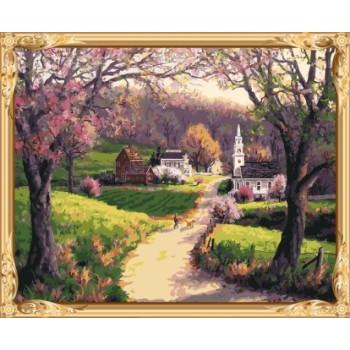 acryl leinwand Öl malen nach zahlen kit Landschaft für Wohnzimmer dekor gx7593