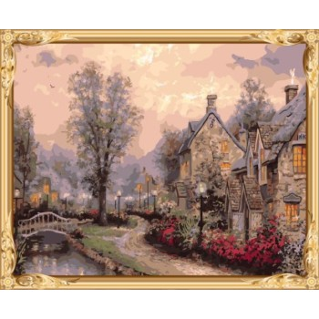 leinwand Öl malen nach zahlen kit Landschaft für Wohnzimmer dekor gx7592