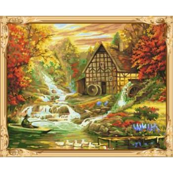 gx 7611 farbe durch zahlen Landschaft moderne kunstmalerei für wohnkultur