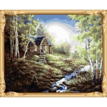 gx 7619 Landschaft färbung von zahlen malerei spiele für kinder
