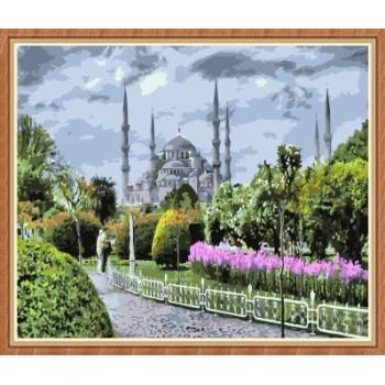 heiß indisch Landschaft malen nach zahlen für wohnkultur gx7826