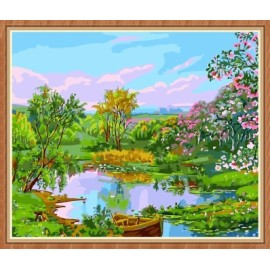 Landschaft Öl malen nach zahlen für den großhandel gx7865