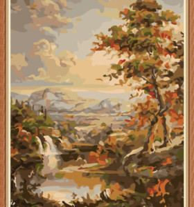 landscape paintboy oil painting by numbers for bedroom GX7894