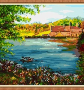 paintbpy diy canvas oil painting by numbers for wall art GX7850