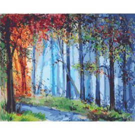 gx7935 Wald gemälde von zahlen mit Acrylfarben