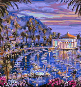 GX7908 paintboy DIY digital landscape paintings by numbers on canvas for decorations