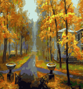 GX7936 landscape canvas oil painting drawing by numbers