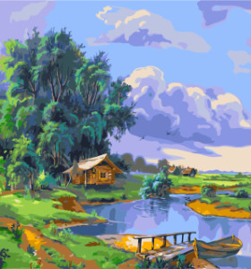 GX7958 landscape paint by number kits oil painting for home decor