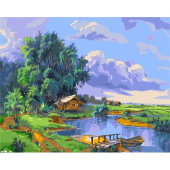 Gx7958 Landschaft malen nach zahlen-sets Ölgemälde für wohnkultur