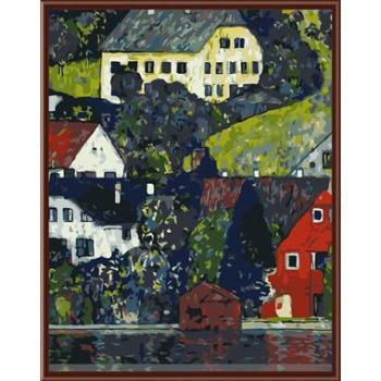 gx6447 yiwu fabrik großhandel kunst lieferanten 2015 neue abstrakte Stadtlandschaft malen nach zahlen
