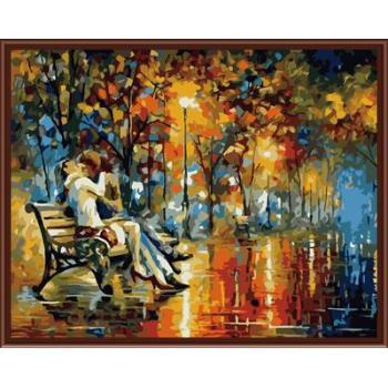 Stadtlandschaft Bild Öl malen nach zahlen gx6389 abstrakte diy Ölbild auf leinwand