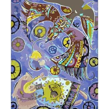 Ölgemälde kit malerei für Anfänger gesetzt gx6591 yiwu fabrik abstrakten malerei