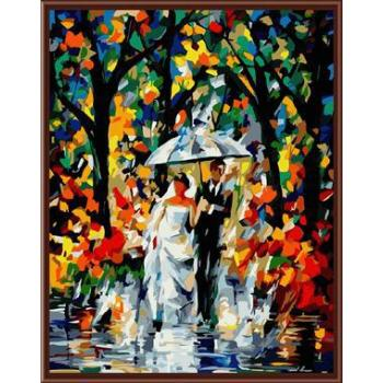 Hochzeitsbild Öl malen nach zahlen gx6385 abstrakten Öl malerei zusammen auf leinwand
