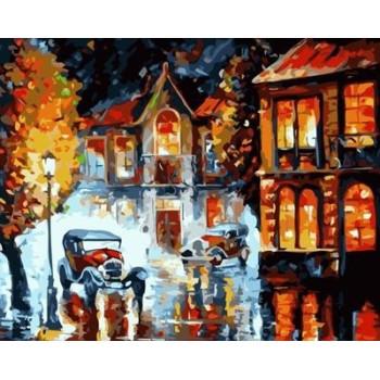 abstrakte leinwand Öl malen nach zahlen Stadtlandschaft yiwu großhandel gx6941