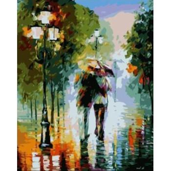 Öl malen nach zahlen abstrakte regnet Stadtlandschaft acryl handmaded malerei auf leinwand gx6996 paintboy marke