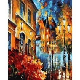 Pintura al óleo by números abstracto de la ciudad paisaje acrílico handmaded pintura en la lona GX6995 paintboy marca