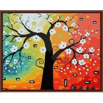 gx6825 abstrakten baum design Öl handmaded malen nach zahlen malen junge marke