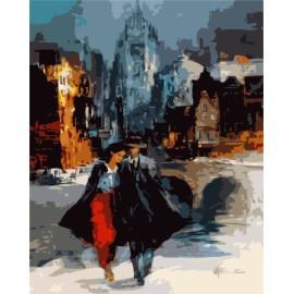 Pintura diy by números cuadro amante GX7145 2015 nuevos calientes de fotos mujeres y hombre diseño