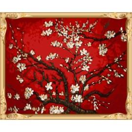 Gx7344 acrílico árbol abstracto pintura al óleo de diy by números de la decoración del hogar