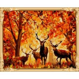 gx 7627 tier hirsche Öl malen nach zahlen kunst liefert für kinder