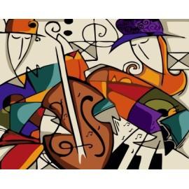 Gx 7644 wand, kunst, abstrakte porträtmalerei