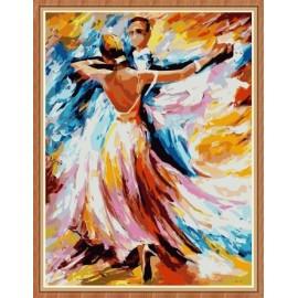 Tanz frauen und männer abstrakten Öl malen nach zahlen für den großhandel gx7864