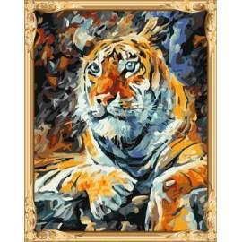 Gx7433 tigre abstracto pintura al óleo de diy by números