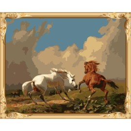 Gx7461 färbung mit Zahlen Rennpferd leinwand Ölgemälde nach zahlen-sets für schlafzimmer dekor