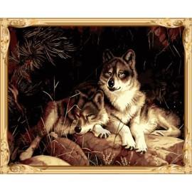 Gx7463 Bild mit Zahlen Wolf leinwand Ölgemälde nach zahlen-sets für schlafzimmer dekor