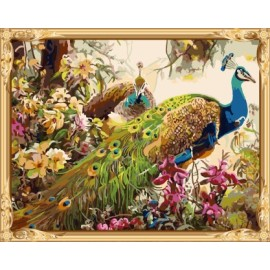 heißen foto diy wandkunst pfau Öl malen nach zahlen für erwachsene gx7546