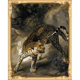 gx 7631 Leopard Ölgemälde mit Zahlen kids art liefert in yiwu