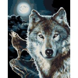Gx 7654 lobo de bricolaje para colorear by números conjunto de pintura para el dormitorio decoración