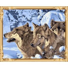Gx7464 Wolf leinwand Ölgemälde nach zahlen-sets für schlafzimmer dekor