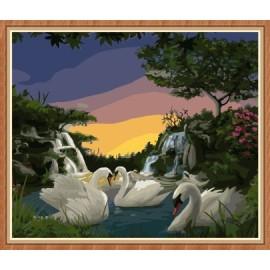 paintboy schwan malen nach zahlen für Wohnzimmer dekor gx7807