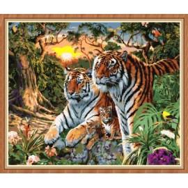 wand art decor tiger Ölgemälde färbung von Zahlen für großhandel gx7861