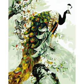 gx7906 paintboy diy digitale schönen pfau gemälde von zahlen auf leinwand gerahmt