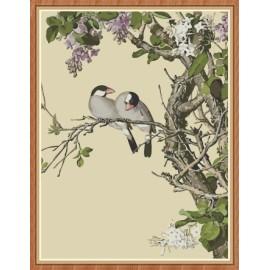 chinesische blumen und Vogel Öl malen nach zahlen kit für den großhandel gx7876