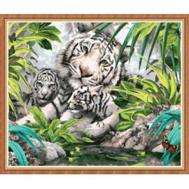 Wand-dekor tiger leinwand Öl malen nach zahlen gx7877