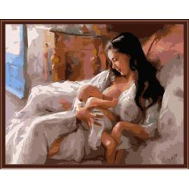 Porträt diy acryl Ölbild auf leinwand gemälde von nummer gx6402 Mutter und Kind design kunst lieferanten