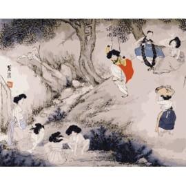 Leinwand malerei gesetzt chinesischen schriftzeichen Künstler Ölfarbe für Anfänger gx7107 zeichnung geschenk-set